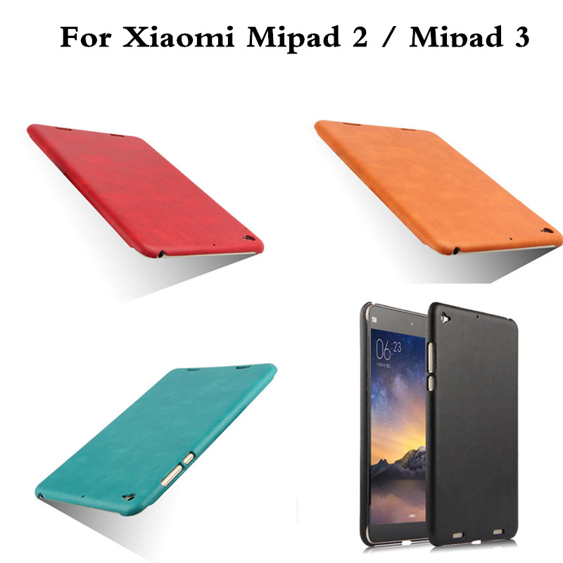 Colorful PU with Hard PC Tablet Cover For Xiaomi MiPad 2 3  7.9'' Flip Case For Mipad2 Mipad3 Protective Skin Shell For Mi pad2