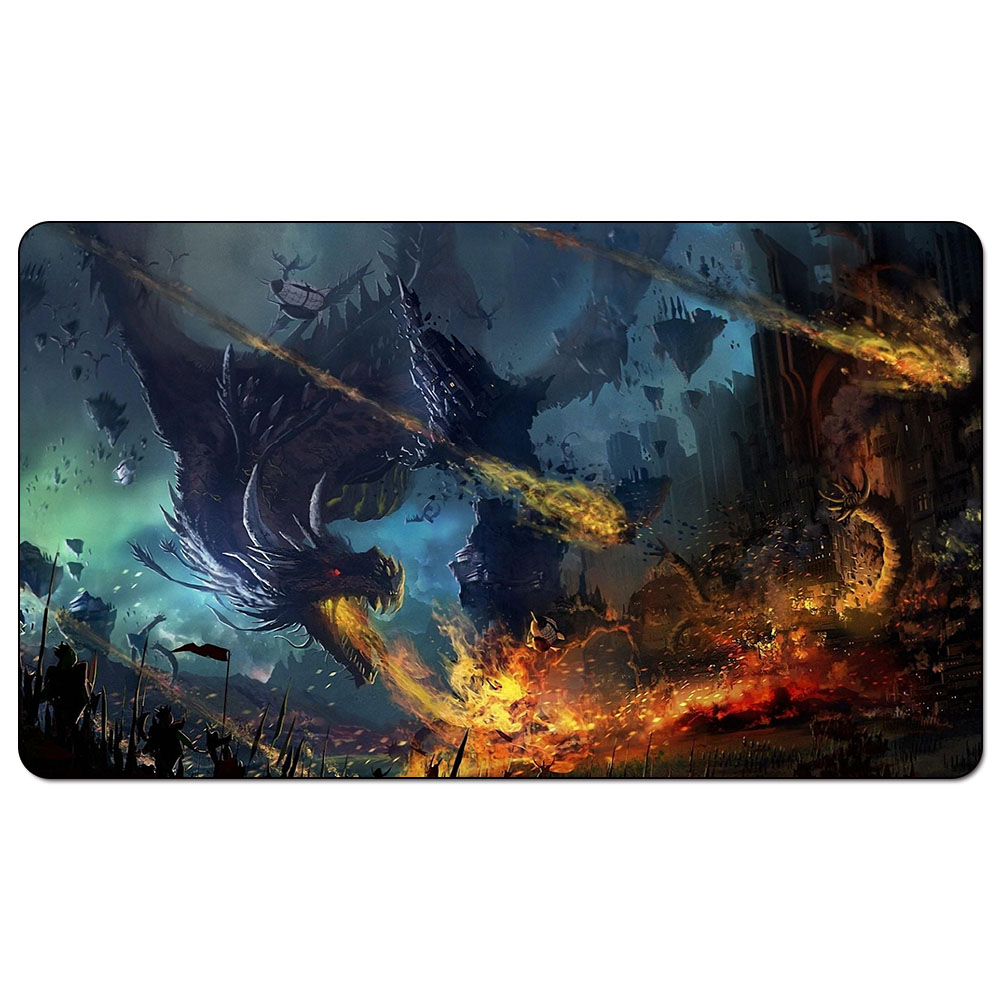 US $18 99 |Game of Thrones dragon attack citadel army Playmat Magic Playmat  A Song of ice and fire dragon for Board Game Table Mat-in Board Games from