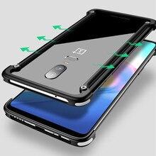 Per OnePlus 8/8 Pro/7 Pro/7T/7T Pro semplicemente di Alluminio del respingente del metallo Sottile caso della copertura Posteriore