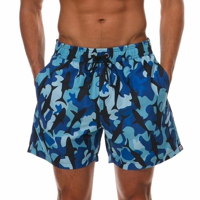 5646003908 Plus Size Shorts da Praia Dos Homens Camuflagem Impresso Swimwear Nadar Calções  Troncos de Natação Surf
