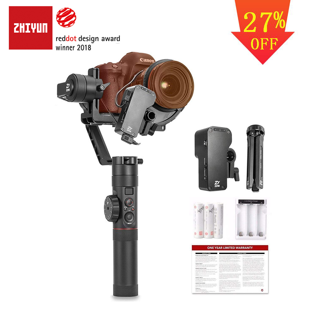 ZHIYUN Official Crane 2 3 Axis Camera Stabilizer Gimbal with Follow Focus Control for All Models of DSLR Mirrorless Camera-in Handheld Gimbal from Consumer Electronics