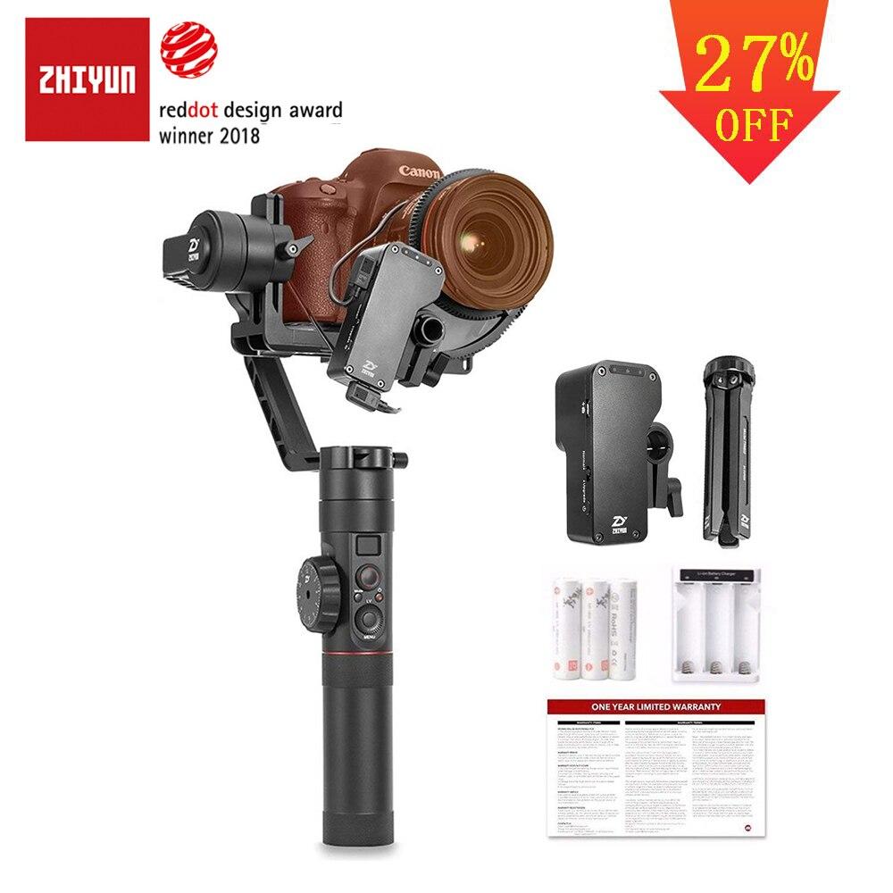 ZHIYUN oficial Crane 2 3-eje estabilizador de cámara cardán con enfoque de seguimiento de Control para todos los modelos de DSLR sin espejo cámara