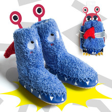 1 Pairs Free Shipping Cute Cartoon Anti Slip Sole Baby Socks Winner Infant Toddler For 0-3 Ages Children Floor #TC
