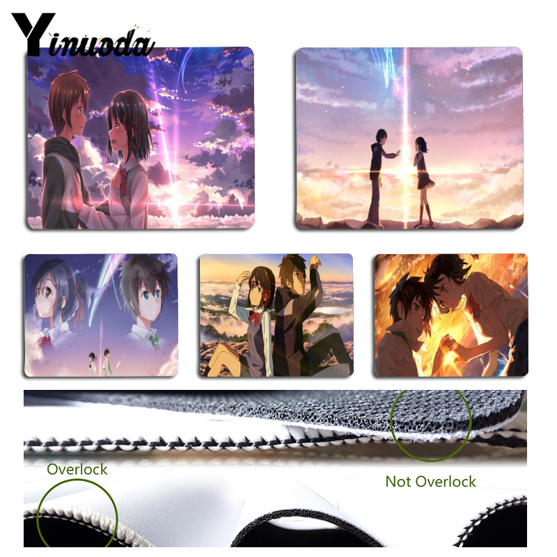 Yinuoda 2018 New Japanese anime your name Computer Gaming Mousemats Size for 18x22cm 25x29cm Small Mousepad