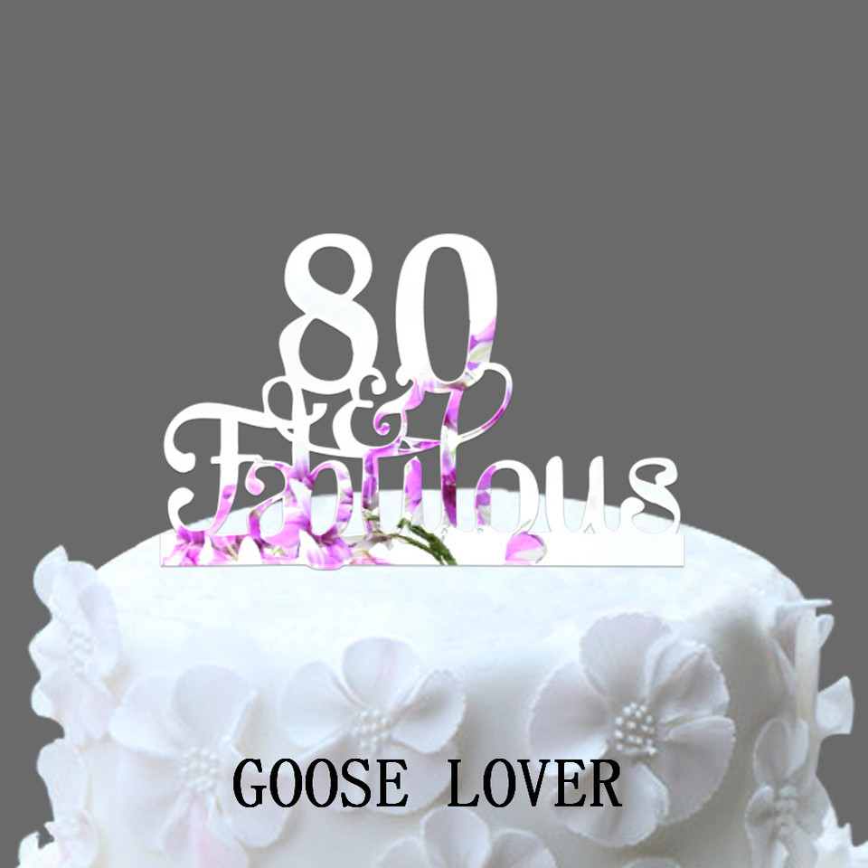 Astonishing 80Th And Fabulous Cake Topper 80Th Birthday Party Decoration Funny Birthday Cards Online Aboleapandamsfinfo