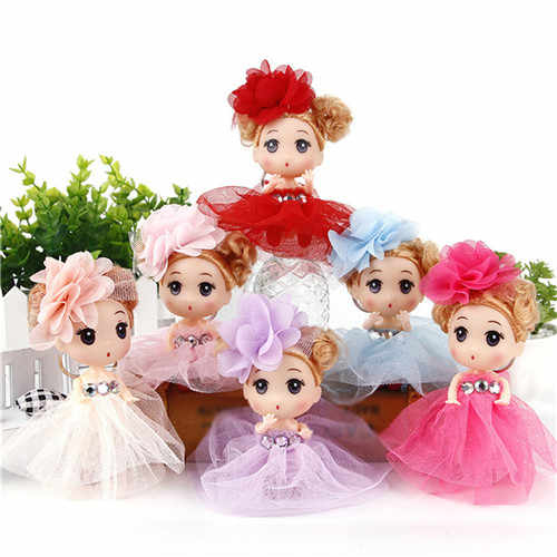 1PC Fashion Princess Doll Wedding Dress Girl Doll Pretand Toy Gift For Kids Children Random Color