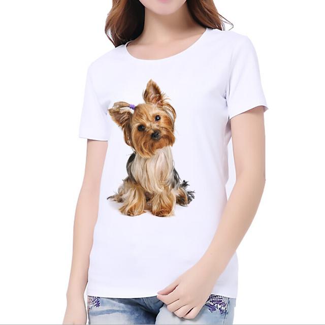 Casual Cute Dog Printed T-Shirt