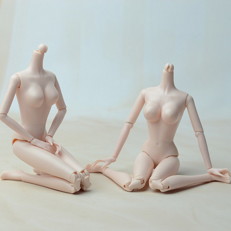 Dolls Body DIY 9 Colors Naked Without Head 11 PVC Joints Fashion Christmas Gift