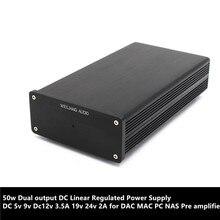 50 Вт Двойной выход DC линейный стабилизированный Питание постоянного тока 5В 9В Dc12v 3.5A 19 v 24 v 2A для DAC MAC ПК NAS предусилитель