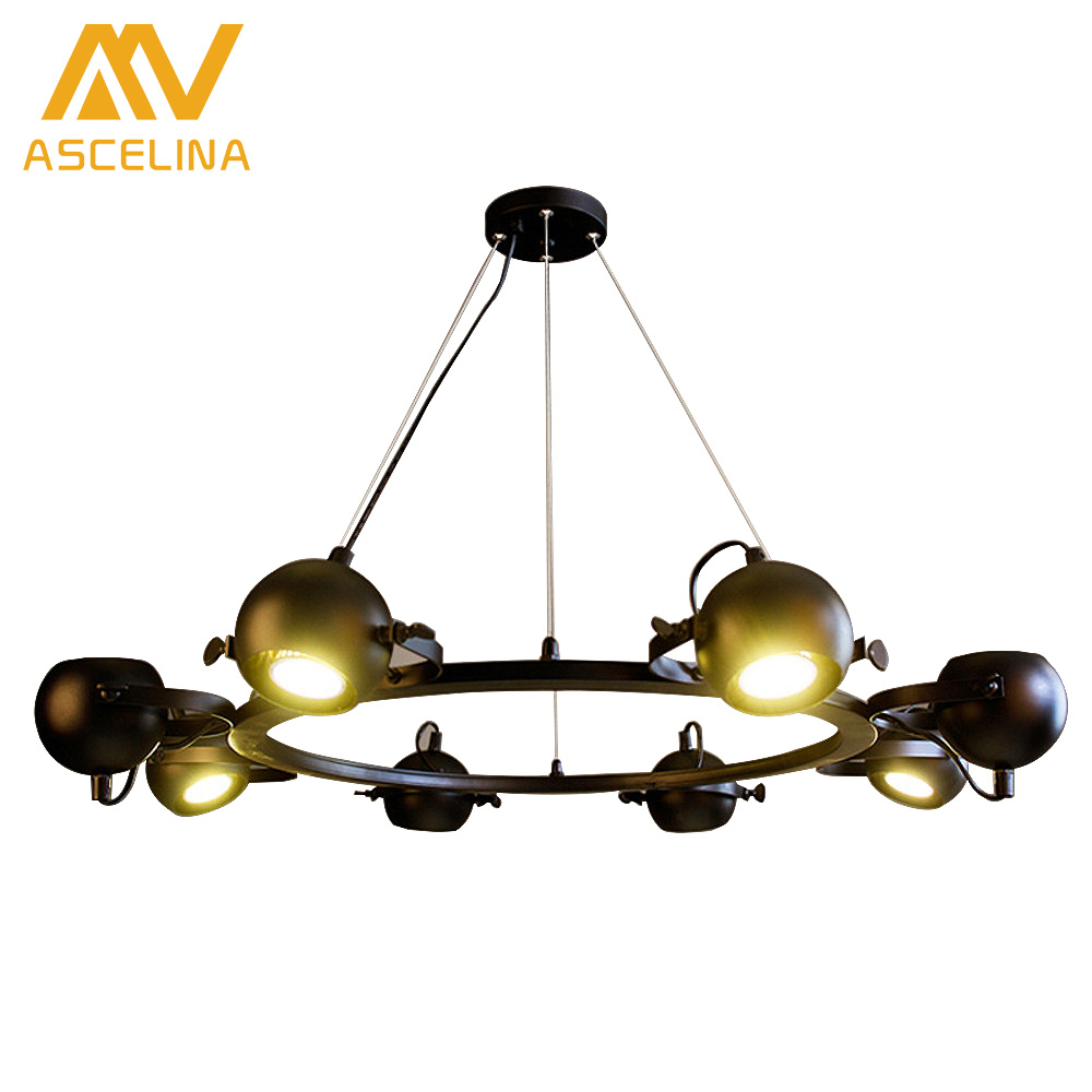 Retro Iron Pulley Pendant Lights  American Vintage Industrial Pulley Rope Antique Edison bulb black painted pulley pendant light mordern nordic retro edison bulb light chandelier vintage loft antique adjustable diy e27 art spider ceiling lamp fixture lights