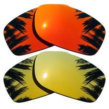 Покрытыем цвета чистого 24 каратного золота зеркальные и оранжевый красный зеркальные поляризованные Сменные линзы для пятерки в квадрате рамки UVA и UVB