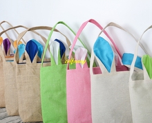 Buy gift bags material and get free shipping on aliexpress 10pcs dhl fedex free shipping easter gift bag jute burlap material rabbit ear shape bags for negle Choice Image