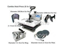 2012 NEW 6 IN 1 Combo Heat Press Machine Heat Transfer Machine DX-0601
