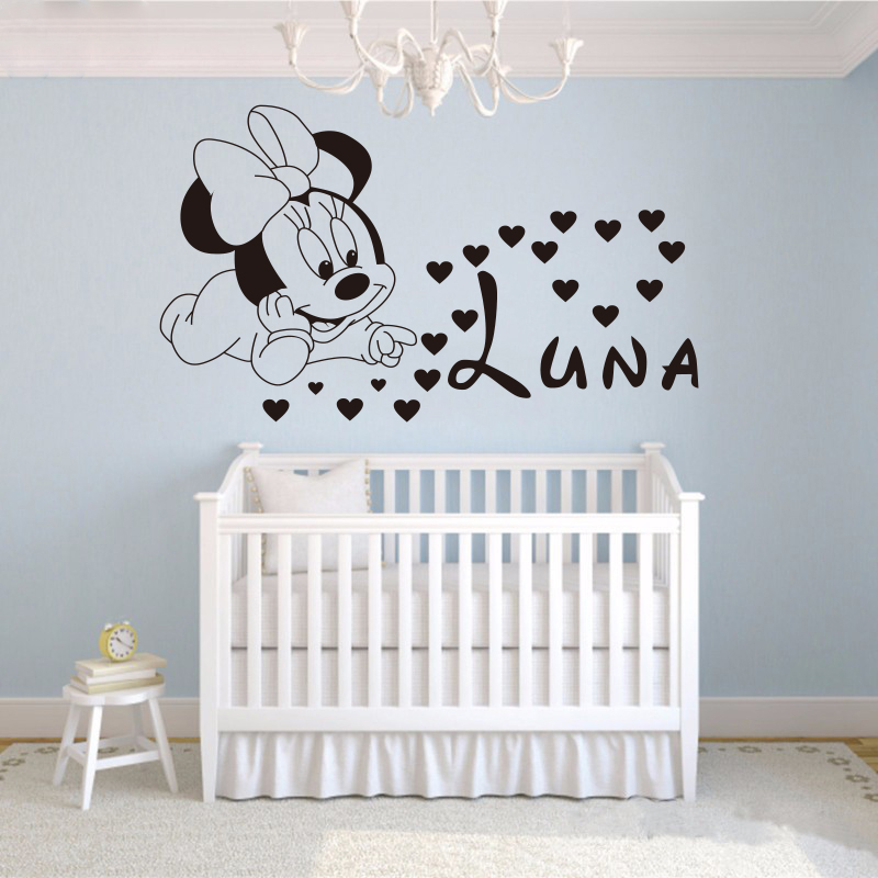 Free shipping home decoration creative diy cute mickey for Baby minnie decoration