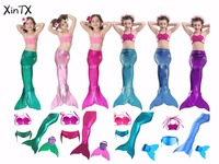 2017 NEW Unique Design HOT Sale Full Scale Mermaid Tail Swimmable Swimsuit For Girls Birthday Gifts