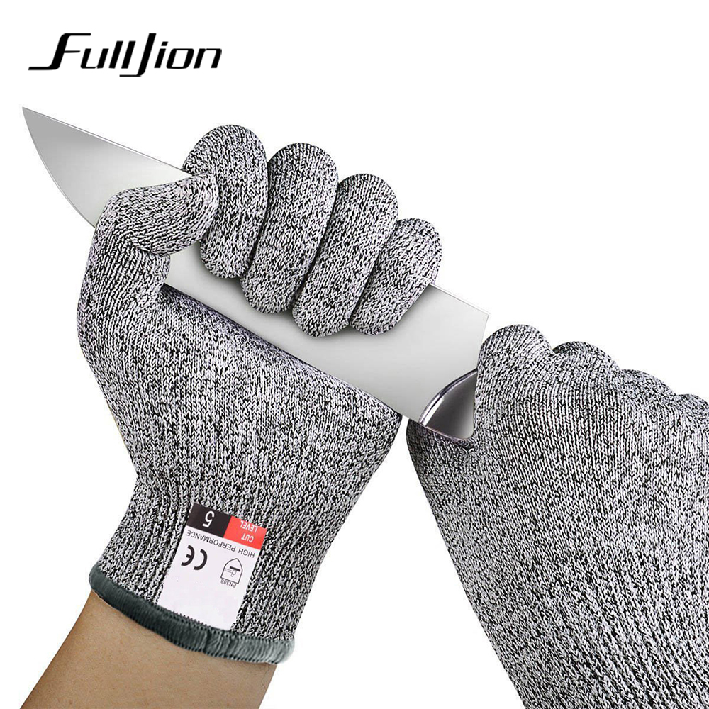 Fulljion Fishing Hunting Gloves Cut Resistant Protection Knife Anti-cutting Outdoor Touch Screen Anti-Slip Anti-Cut Ultra-thin