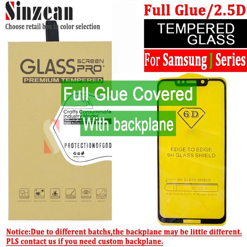 Sinzean J series 100pcs 2 5D Full Glue Tempered Glass Screen Protector for Samsung J5 J4