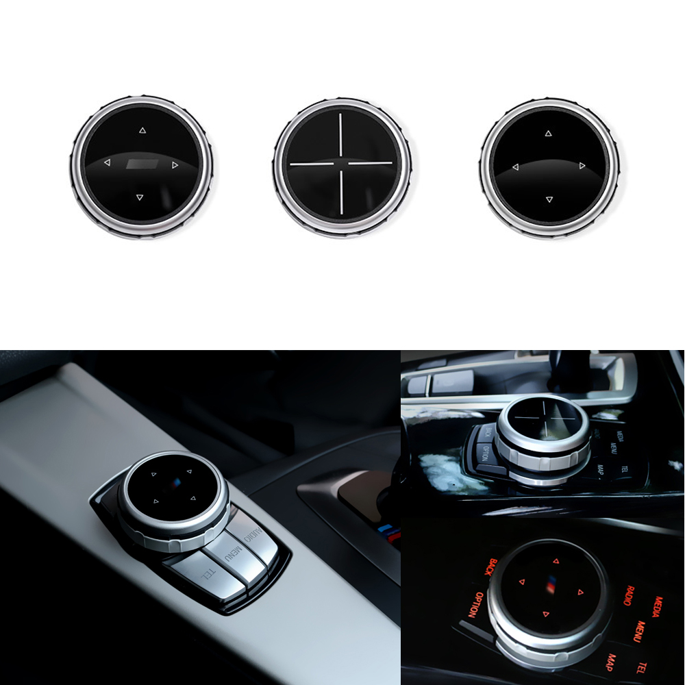 iDriver Multimedia Buttons Cover for BMW <font><b>1</b></font> 2 3 4 5 7 Series X1 X3 X5 X6 F30 E90 E91 F10 F18 F11 F15 F16 F25 E60 E61 F07 E70 71 image