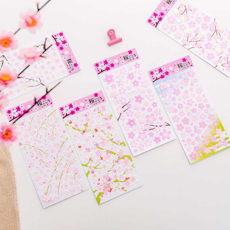 Розовая вишня, Сакура Декоративные Канцелярские наклейки Скрапбукинг DIY дневник