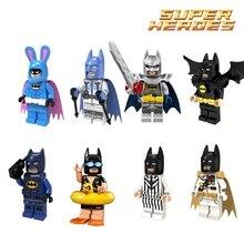 Única Venda Super Heroes Batman com Capa Roxa legoing do Coelhinho Da Páscoa figuras Modelo de Blocos de Construção Tijolos Brinquedos para Crianças