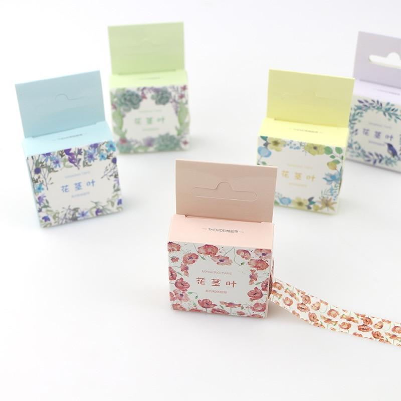 3pcs kühle Pflanze Washi dekorative Scrapbooking Papier Maskierung Klebeband