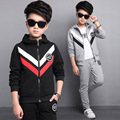 Sport Suit For Boy 5-13 Years Toddler Boys Clothing Set Long Sleeve Hooded Outwear + Pant Children Clothes Set Conjunto Menino