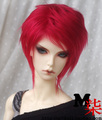 Fashion red fur wig 1/3 1/4 1/6 BJD Wigs long wig for DIY dollfie