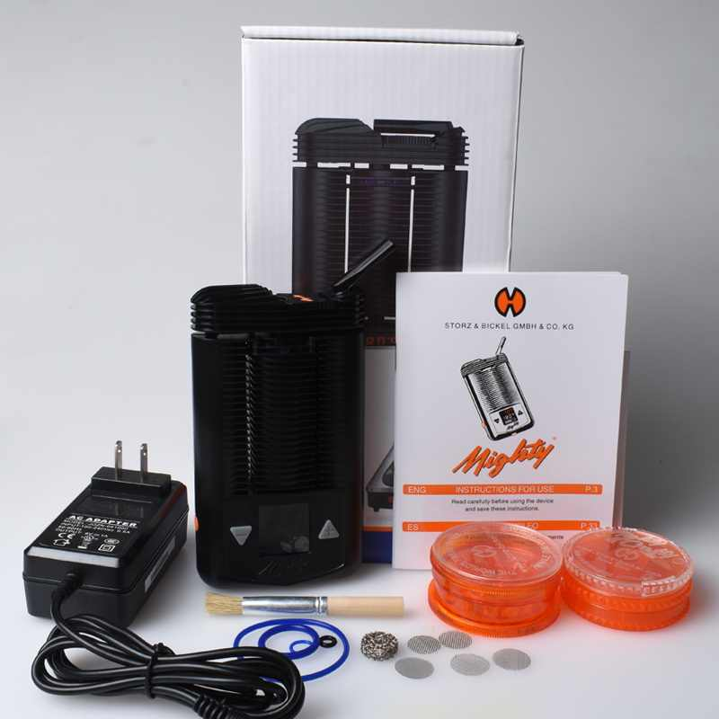 2019 latest Mighty dry herb Vaporizer Kit uses full hot air convection  heating System 3000mAh electronic cigarette Kit