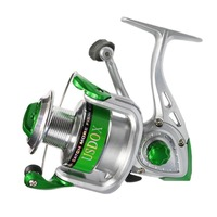 Triclicks Spinning Fishing Reel 10+1BB Lightweight Speed Spin Foldable Handle Rubber