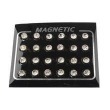 12 Pairs Men Women Unisex Non Piercing Magnetic Magnet Ear Stud Earrings 5mm (China) bea9bf4930f9