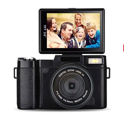 2017 Super 24Mp Max 8MP CMOS capteur 3 pouces écran Compact appareil Photo numérique professionnel appareil Photo 1080 P vidéo 800 mah batterie