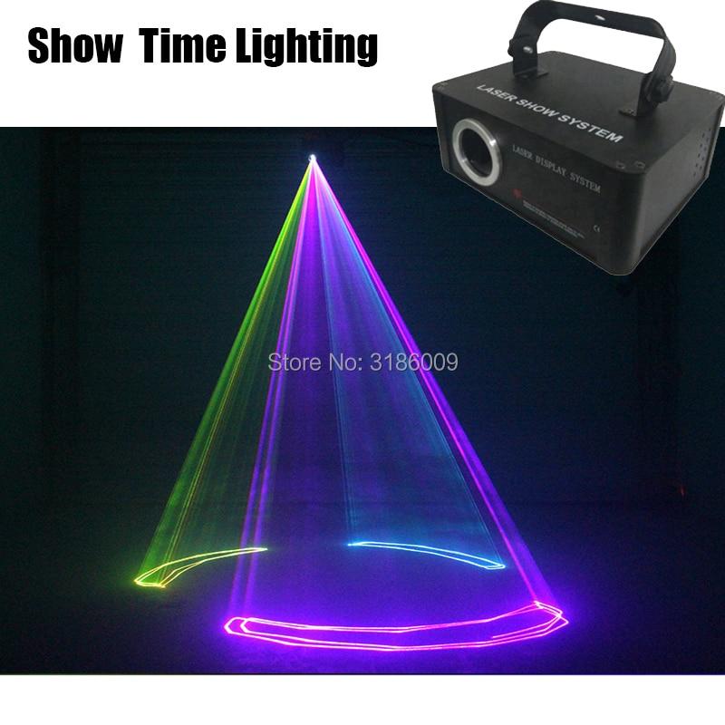 Show Time Disco Light Dj 500mw Line Scanner Carton Laser Show Carton Flower Picture Bulid In Program Good For Party KTV