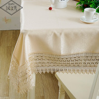 Special Sales Free Shipping Luxury 100% Polyester Slubbed Cloth 18cm Wide Lace Border Embroidered Table Runner Large Table Cloth