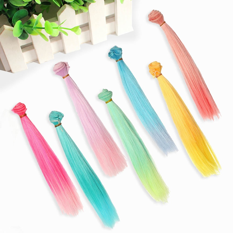 High Temperature Fiber 25 Toys & Hobbies 100 Cm Gradient Color Doll Wigs Straight Hair For Doll 1/6 1/12 Diy Accessories Kids Gift Toy