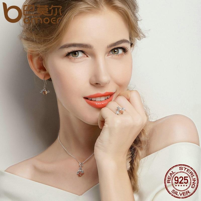 Bamoer 100% authentisch 925 sterling silber orange flügel tier biene - Modeschmuck - Foto 3