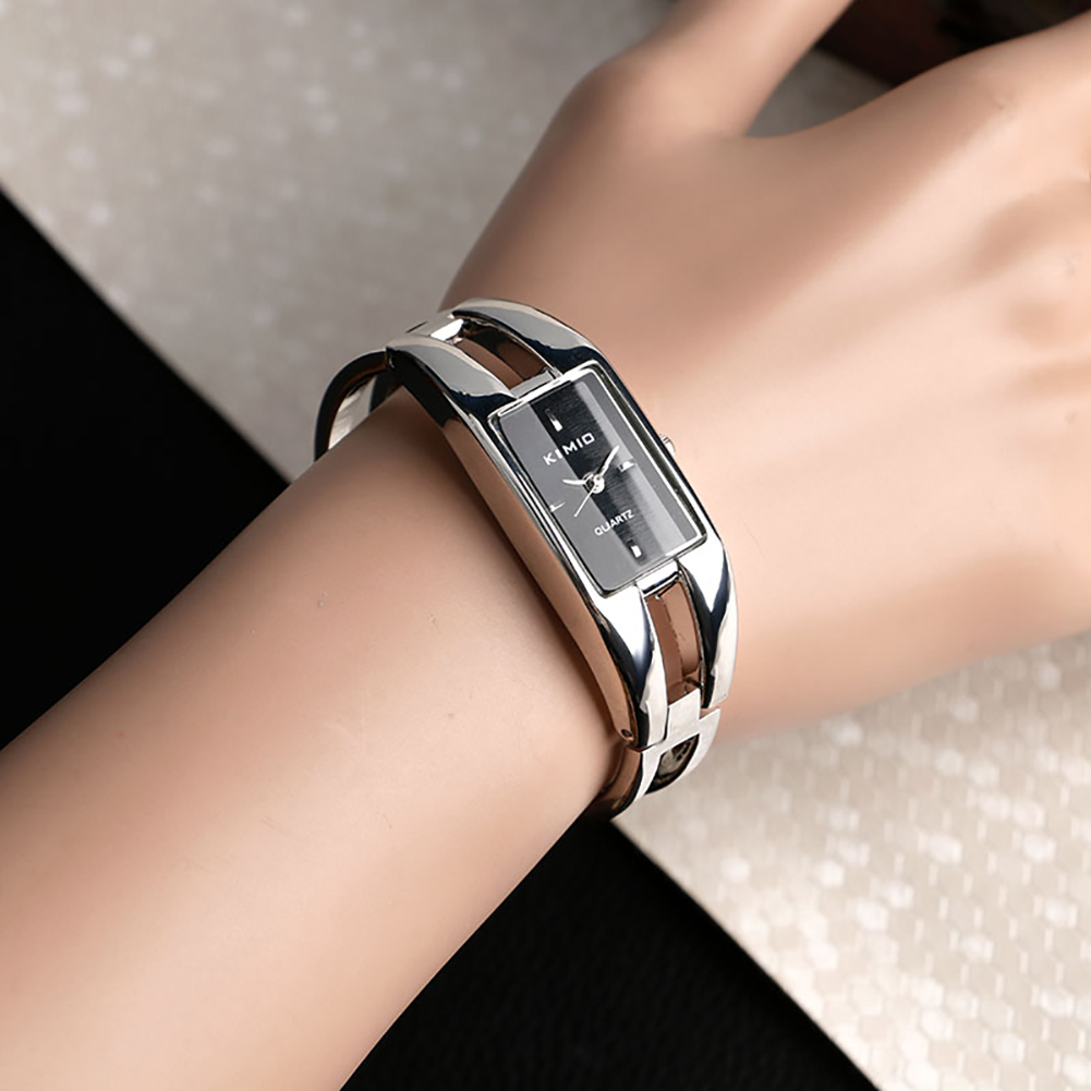 Ultra-thin Fashion Watch 2018 Women Bangle Watch Stainless Steel Bracelet Watches Top Band Luxury Women Wristwatch shifenmei 2136 ultra thin smart steel band watch