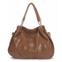 Echtes leder frauen taschen handtaschen serpentine luxus-einkaufstasche hohe qualität sac ein haupt bolsas de marca festa bolsa feminina