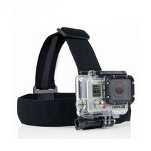 Anti-skidding Head Strap Action Camera For Gopro Hero 5 4 3 Black Elastic Type For Sport Cameras