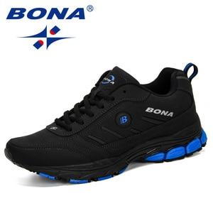 Image 4 - BONA 2019 ฤดูใบไม้ผลิฤดูใบไม้ร่วงรองเท้าผู้ชาย Running Breathable กีฬากลางแจ้งรองเท้า Zapatos วิ่งสบายรองเท้าผ้าใบชาย
