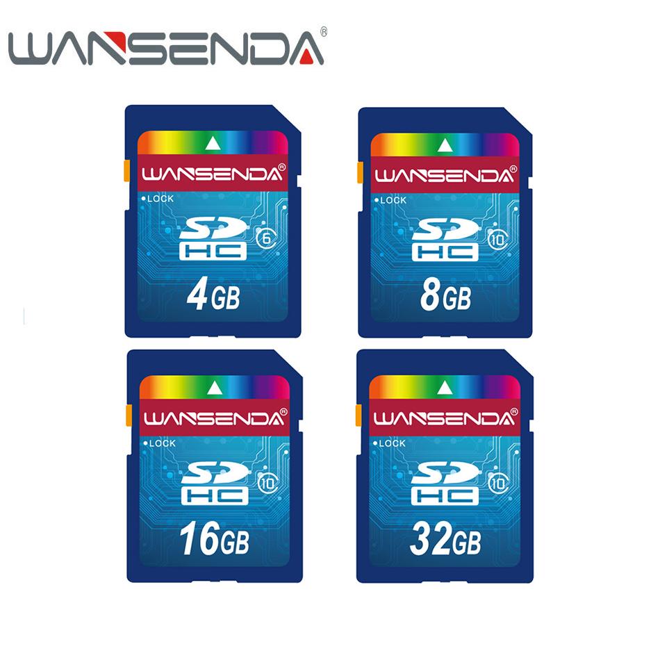 WANSENDA Class 10 Micro SD Card 32GB 16GB 8GB Memory 4GB Class 6 Flash Card Memory SDHC Microsd For Smartphone/Tablet/Camera