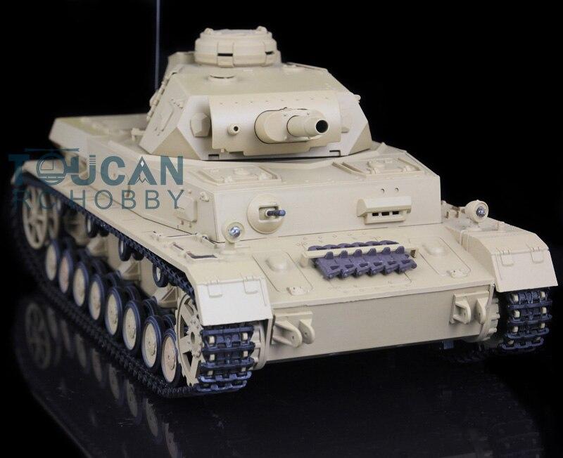 2.4Ghz HengLong 1/16 German Panzer IV F RTR RC Tank Model Plastic Ver Sound 3858