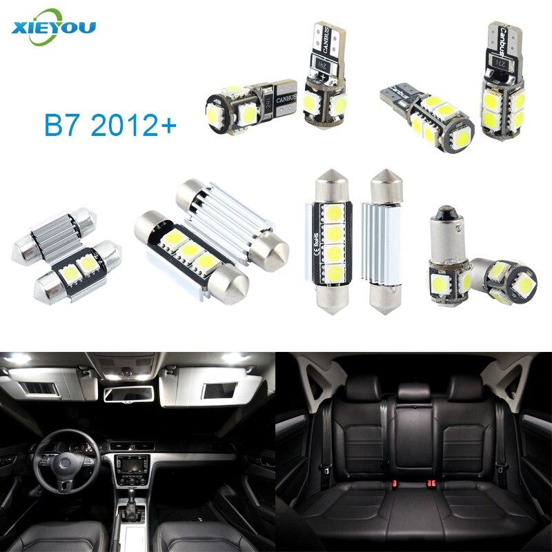XIEYOU 14ks LED sada pro osvětlení interiéru Canbus pro B7 (2012+)
