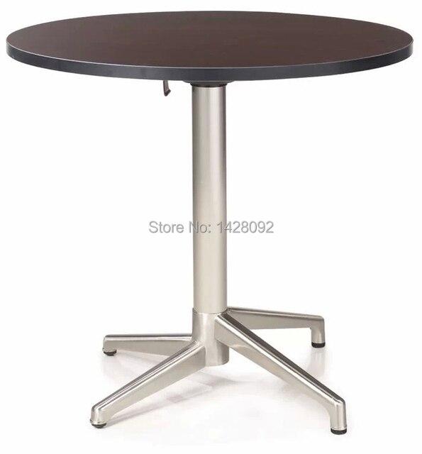 Современная мода сложенный круглый MDF верхней матового алюминия журнальный столик журнальный столик обеденный стол LQ-GC0877