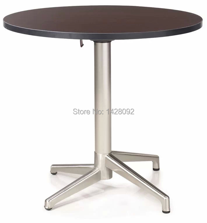 Fashion Modern Folded Round MDF Top Brushed Aluminum Coffee Table Cocktail Table Dining Table LQ-GC0877