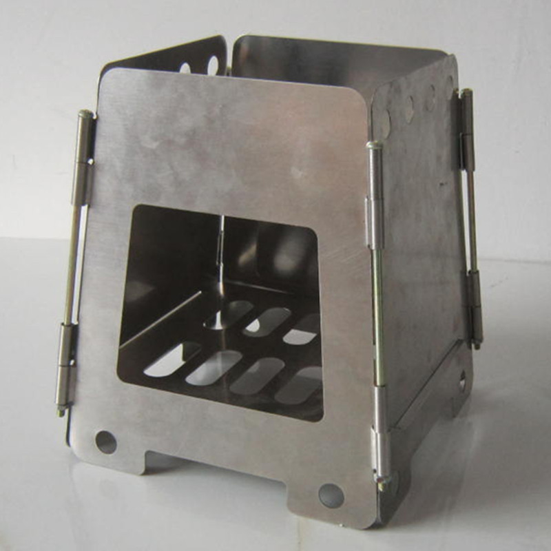 Outdoor Wood Stove With Hinge Lightweight Folding Portable