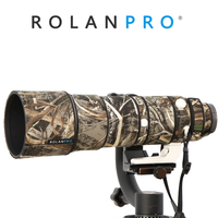 ROLANPRO Nylon Waterproof Lens Camouflage Rain Cover for Sony FE 200 600mm F5.6 6.3 G OSS Lens Protective Case Guns Clothing