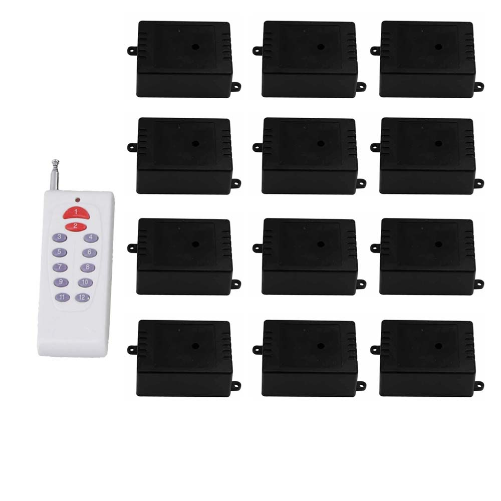 1CH 433 MHZ 24 V commutateur de télécommande sans fil autobloquant 12 récepteurs