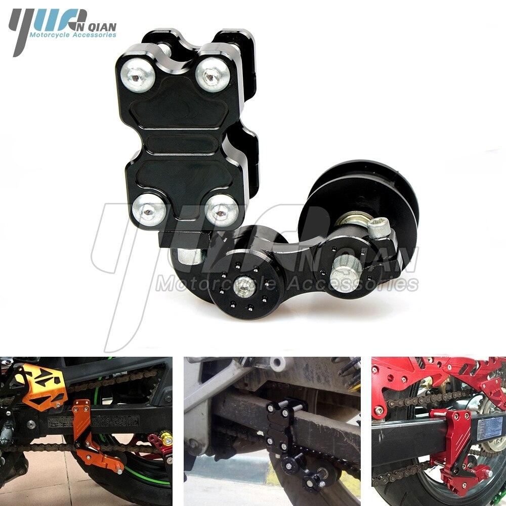 Motorcycle refires pieces motorcycle chain auto tensioner rubber chain tensioner Aluminum for yamaha kawasaki honda ktm ducati