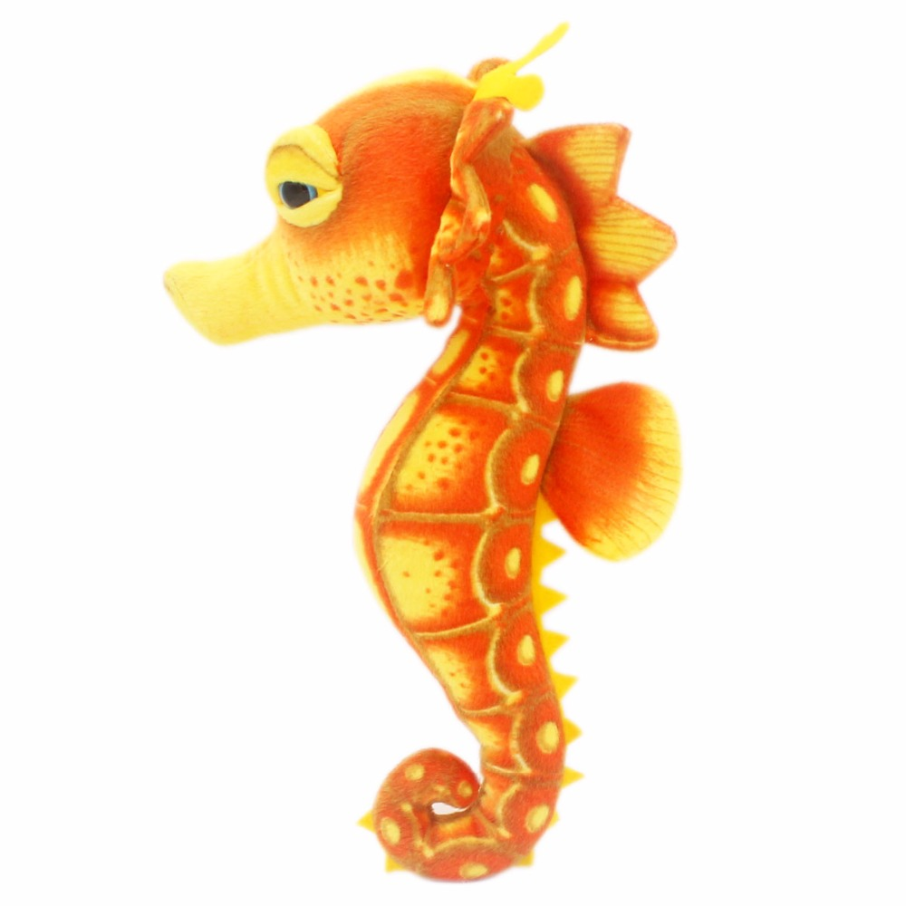 JESONN Realistic Stuffed Marine Animals Plush Sea Horse Leksaker för barns födelsedagspresenter, 39 CM