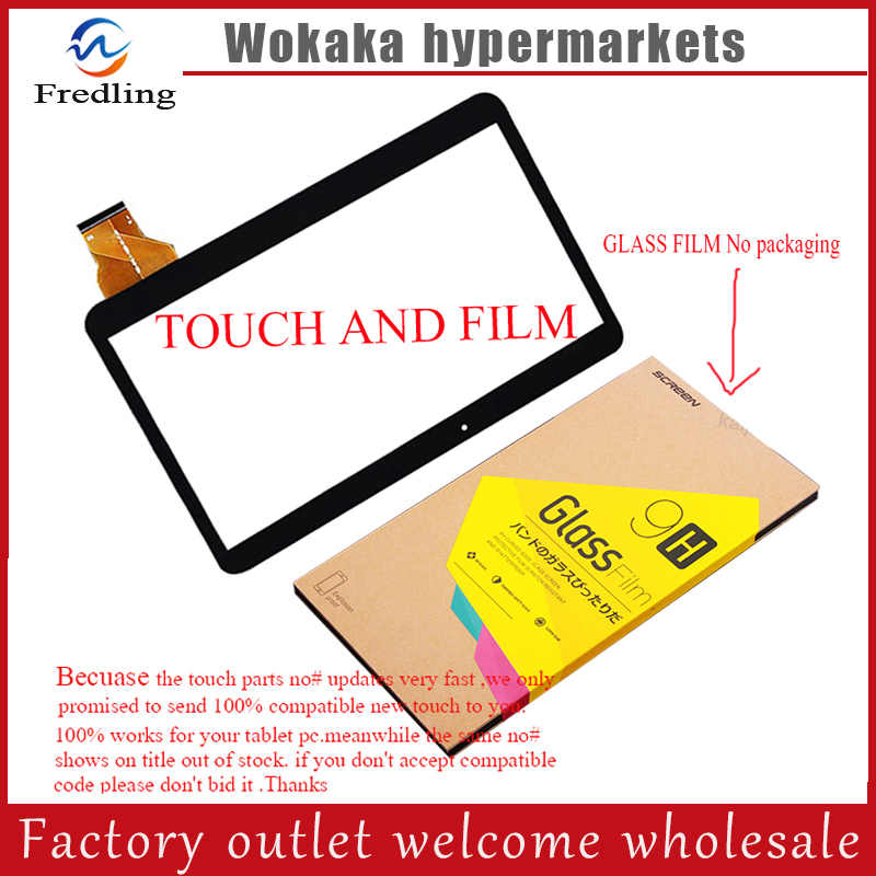 Tempered Glass Film+New Touch Screen Digitizer 10.1 For Lenovo A101 3G Quad core Tablet MTK6582 Touch Panel Glass Sensor 10pcs 7inch 186x104 mm fm712301ka capacitor touch screen capacitance glass for rk3168 due core cortex a9 tablet